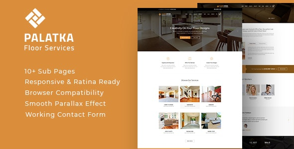 Palatka : Floor and Paving Service HTML Template - Business Corporate