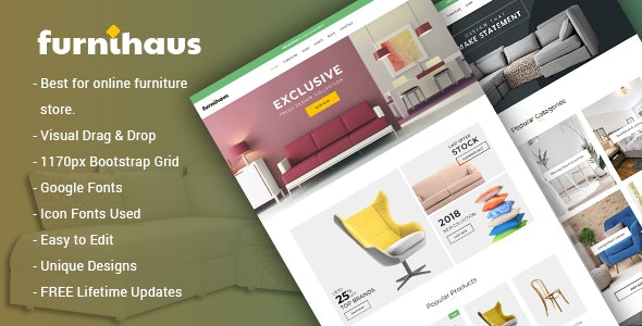 Furnihaus - Responsive Furniture WooCommerce WordPress Theme