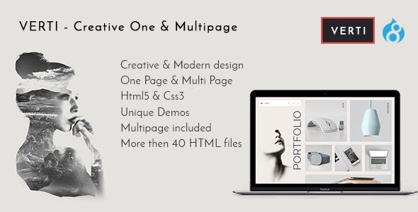 Verti - Creative OnePage & MultiPage Drupal 8.8 Theme - Creative Drupal