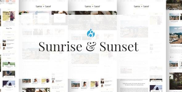 Sunrise & Sunset - Personal & Magazine Drupal 8.8 Theme - Personal Blog / Magazine