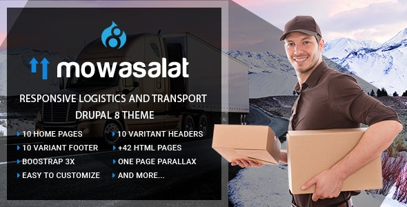 Mowasalat | Responsive Logistics and Transport Drupal 8.7 Theme - Business Corporate