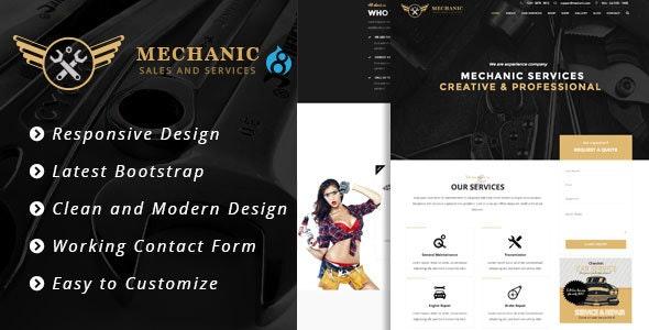 Mechanic - Car Service & Workshop Bootstrap Drupal 8.8 Theme - Business Corporate