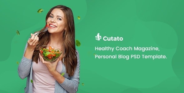 CUTATO - Healthy Magazine PSD Template - Retail Photoshop