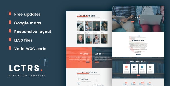 LCTRS - Education & Online Courses Responsive HTML Template - Business Corporate