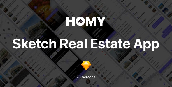 Homy - Sketch Real Estate App - Corporate Sketch