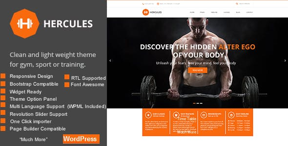 Gym | Gym fitness WordPress Theme | Hercules RTL