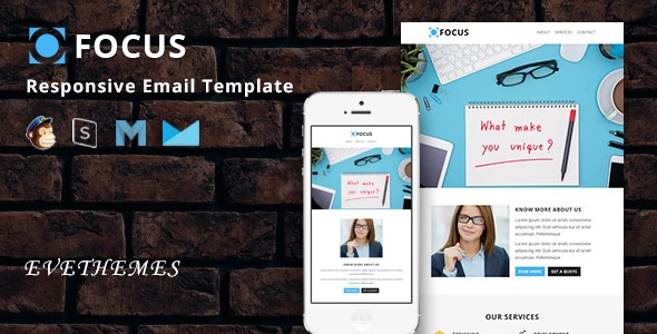 Focus - Responsive Email Template - Newsletters Email Templates