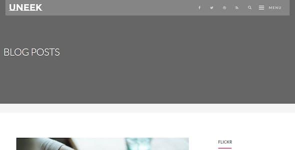Uneek - Clean Blog/Portfolio Drupal 8 Theme