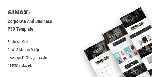 Sinax - Corporate And Business PSD Template - Business Corporate