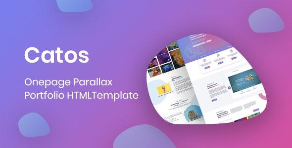 Catos -Onepage Portfolio HTML Template - Portfolio Creative