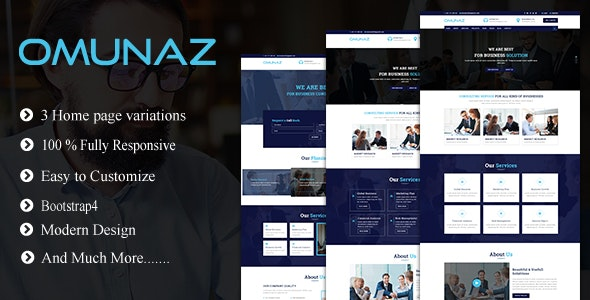 Omunaz - Consulting, Business and Finance Site Template - Business Corporate