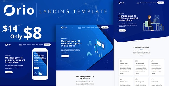 Orio - Landing Template - Technology Site Templates