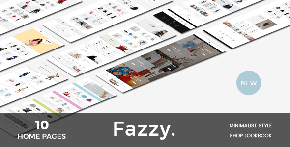 Fazzy - Lookbook Ecommerce PSD Template - Photoshop UI Templates