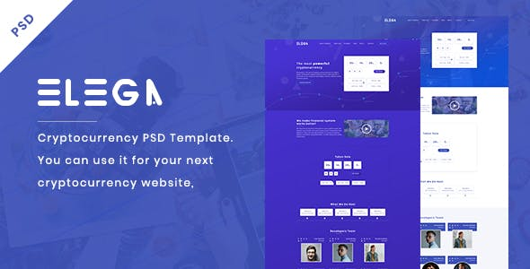 Elega - Cryptocurrency & ICO PSD Template