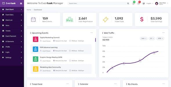 Eventaxk - Event Manager Admin PSD