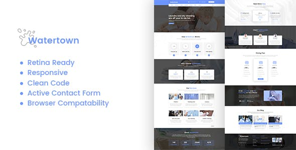Watertown : Laundry, Dry Cleaning Services HTML Template