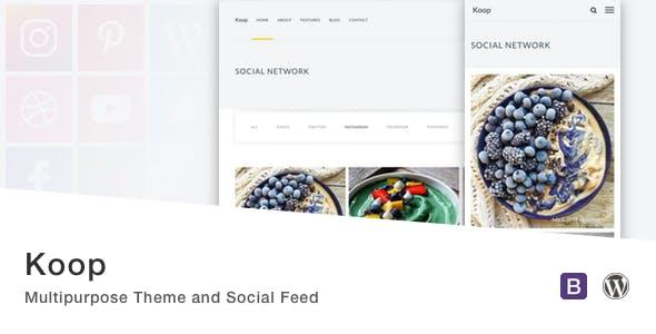 Koop - Multipurpose Theme and Social Feed.