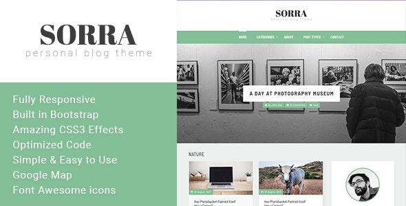 Sorra - Personal Blog HTML Template - Personal Site Templates