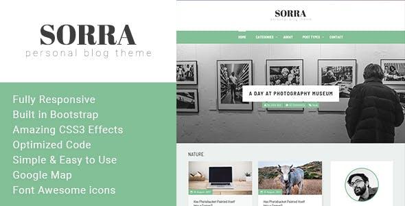 Sorra - Personal Blog HTML Template