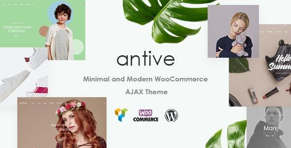 Antive - Minimal and Modern WooCommerce AJAX Theme (RTL Supported) - WooCommerce eCommerce