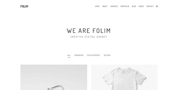 Folim Lite - Clean Minimalist Portfolio WordPress Theme