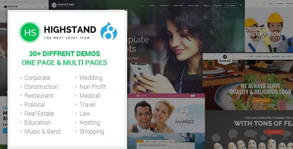 Highstand - Responsive MultiPurpose Drupal 8.7 Theme - Corporate Drupal