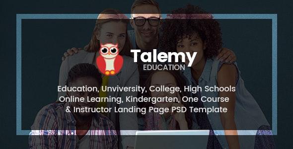 Talemy | Multipurpose Education PSD Template - Corporate Photoshop