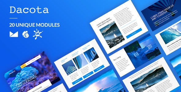 Dacota Email-Template + Online Builder - Newsletters Email Templates