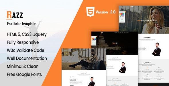 Razz - Personal Portfolio HTML Template - Portfolio Creative