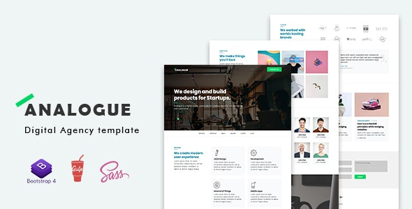 Analogue - Digital Agency template - Site Templates