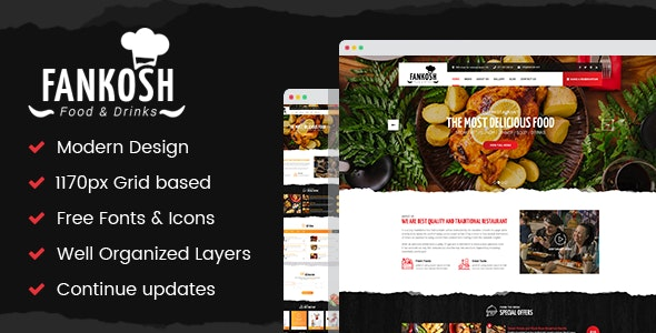 Fankosh - Photoshop UI Templates