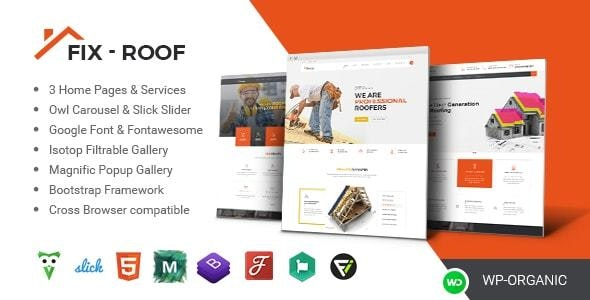 FixRoof - Roofing Service and Construction HTML Template - Business Corporate