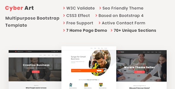 CyberArt - Multipurpose Bootstrap Template - Technology Site Templates