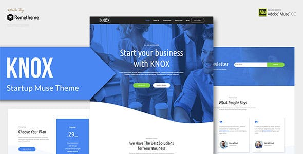 Download KNOX - Startup, Agency, Apps Muse Theme