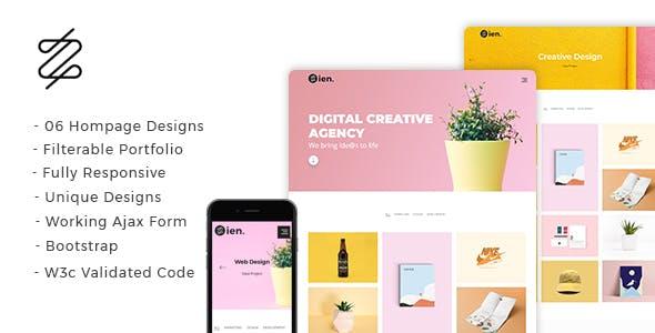 Zien - Creative Portfolio Landing Page
