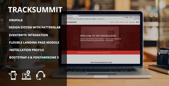 Tracksummit - Drupal 8 Conference & Events - Drupal CMS Themes