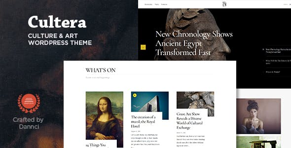 Cultera - Art & Culture WordPress Theme