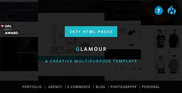 Glamour - Multipurpose OnePage & MultiPage Drupal 7 & 8 Theme - Creative Drupal