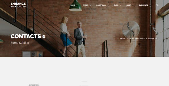 Enhance - Multi-Purpose Onepage & Multipage Drupal Theme