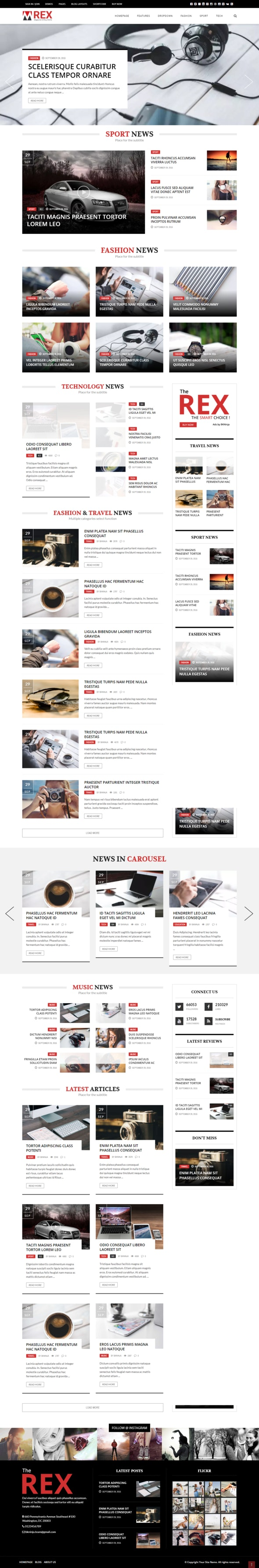 The REX - Drupal 8 Magazine and Blog Theme - Blog / Magazine Drupal