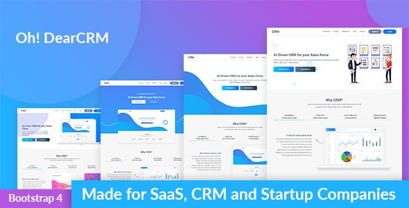OhDearCRM - SaaS & CRM App Landing Page Template - Software Technology