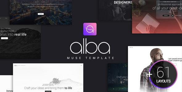 Alba Muse Template - Creative Muse Templates