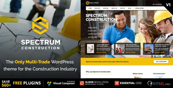 Spectrum - Multi-Trade Construction Business Theme