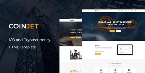 CoinJet | Bitcoin & Crypto Currency  HTML Template - Technology Site Templates