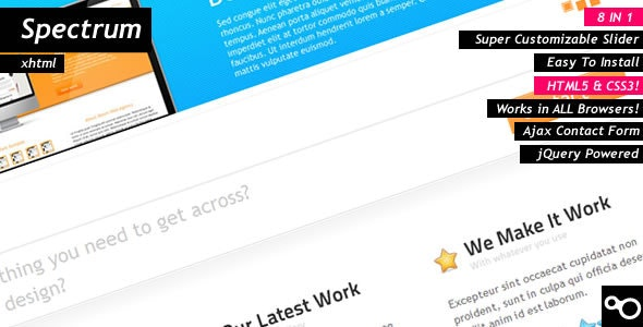 Spectrum HTML5 Theme by DigitalHenry | ThemeForest