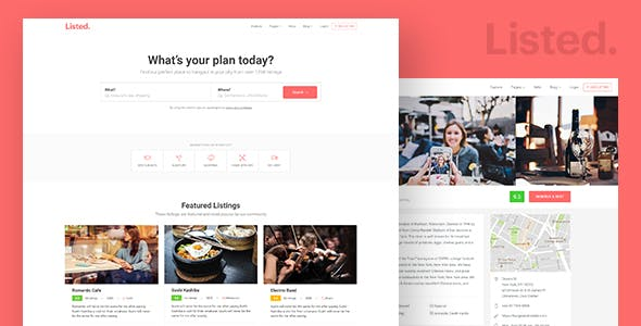Directory & Listing HTML Website Template - Listeed