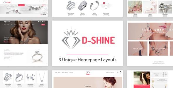 D-shine - Diamond Jewelry HTML template