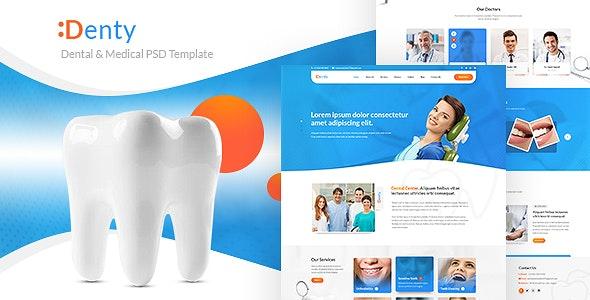 Denty | Dental & Medical PSD Template - Health & Beauty Retail