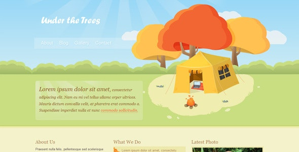 Under the Trees - Creative Site Templates