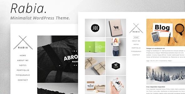 Rabia - Personal Minimalist WordPress Theme - Personal Blog / Magazine